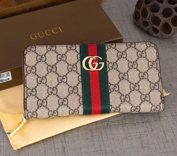 And whole ale 2019 fa hion ladie ingle zipper wallet de igner women pu leather wallet lady ladie long pur e, Red;black