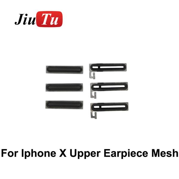 Para reparación de LCD Adhesivo Oreja Altavoz Auricular Malla de pantalla antipolvo para iPhone X 8G 8 Plus 7G 7 Plus 6G 6 a 5G Reemplazo