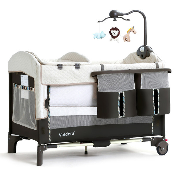 Valdera portable folding butt cot multifunction baby bed splicing big bed newborn cradle