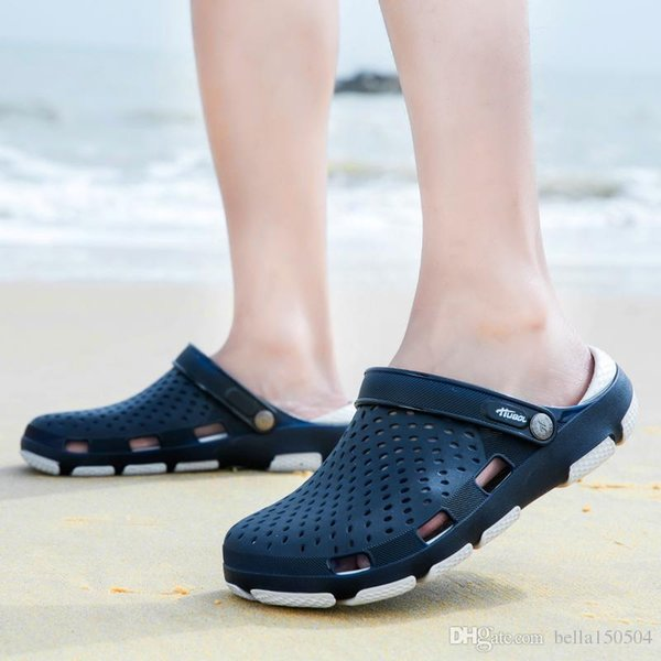 good quality designer sandals Jelly beach shoes men Sandals Casual Shoes Slippers Beach flip-flops Outdoor Slippers sandals for men