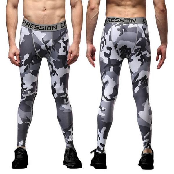 Adisputent Fitness Men Casual Tights Printed Jogger Pants Casual Skinny Legging Compression Sportswear Slim Fit Elastic Trousers