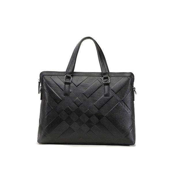 Genuine Leather Briefcases Laptop Bag Men Handbag Leathe Natural Real Cowhide Business Shoulder Bag Casual Messenger #630504