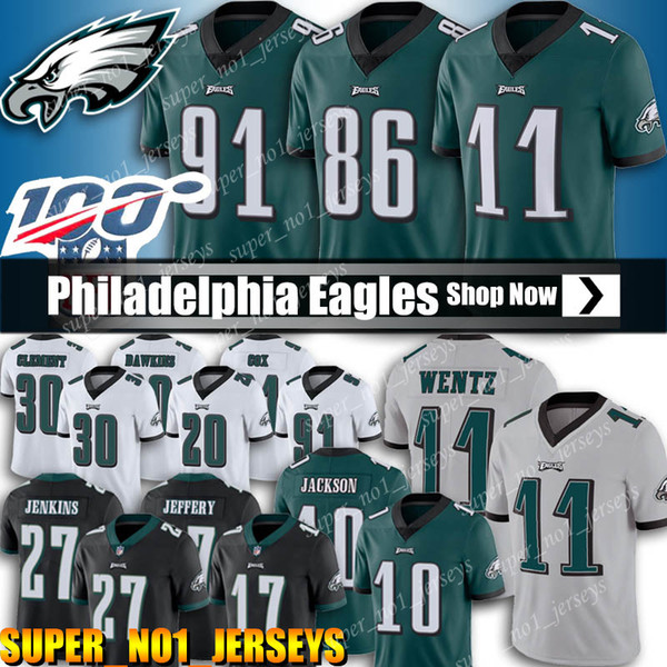 11 Carson Wentz Jersey Philadelphia Jersey Aquila 86 Zach Ertz Maglie 10 DeSean Jackson maglie 91 Fletcher Cox 62 Jason Kelce 17 Alshon