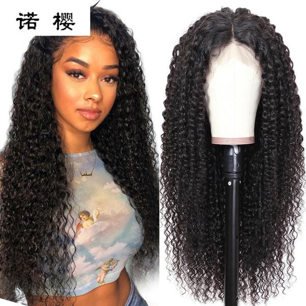 13 * 4 pelucas de cabello humano con frente de encaje completo Peluca brasileña de encaje rizado pre arrancado para mujeres negras Pelucas de onda de cabello virgen