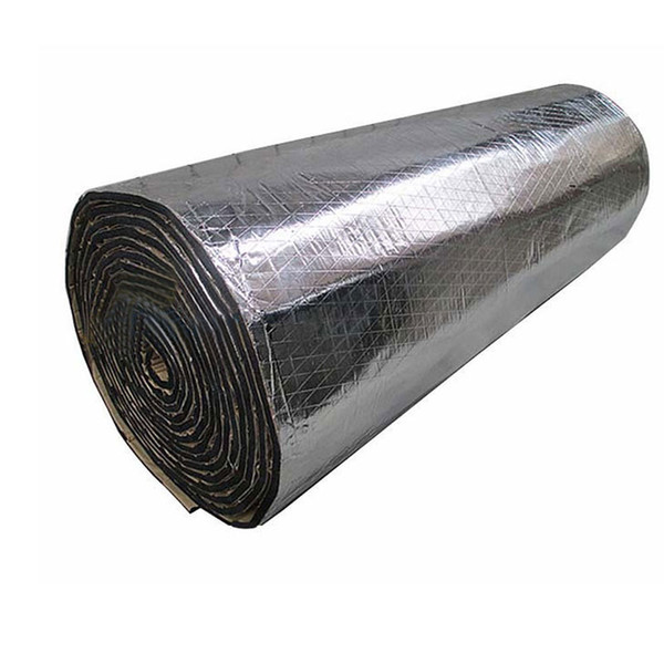top popular 2 Roll 100X50cm Car Noise Sound Proofing Deadening Insulation Heat 10mm Foam Glass Fibre Auto Interior Accessories 2020