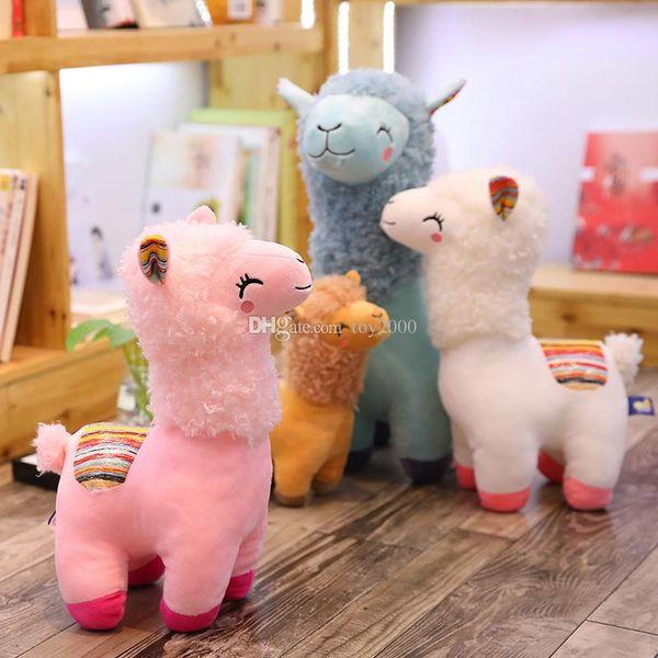 Precioso 4 Colores Alpaca Llama Felpa Niños Juguete Muñeca Animal Animal de Peluche Muñeca Suave Felpa Para Niños Regalos de Cumpleaños 25 CM