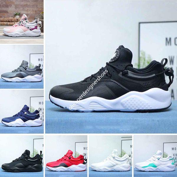 Nueva llegada Huarache 8.0 Zapatillas de running para hombres Mujeres Todo Negro Blanco Azul oscuro Gris Sandía en polvo Flor Zapatillas de deporte para hombre Zapatillas de deporte