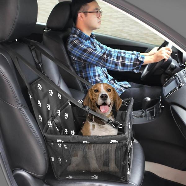 Сиденье NEWTravel домашних собак Автомобиля Обложка Pad Оксфорд дышащей Складная безопасная печать Puppy Перевозчики сумка Soft Washable Сумка Корзина
