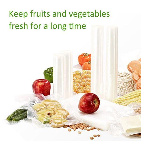 Fresh-keeping Bag Long Roll Vacuum Cotto Food Saver Conservazione Sacchetto di imballaggio Spuntini di carne Fagioli di frutta secca Conservazione Sacchetto di plastica