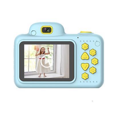 Los niños Tiny cámara posterior única de movimiento tanto de la cámara de la lente se puede fotografiar Juguetes cinta de vídeo de la cámara de dibujos animados Número