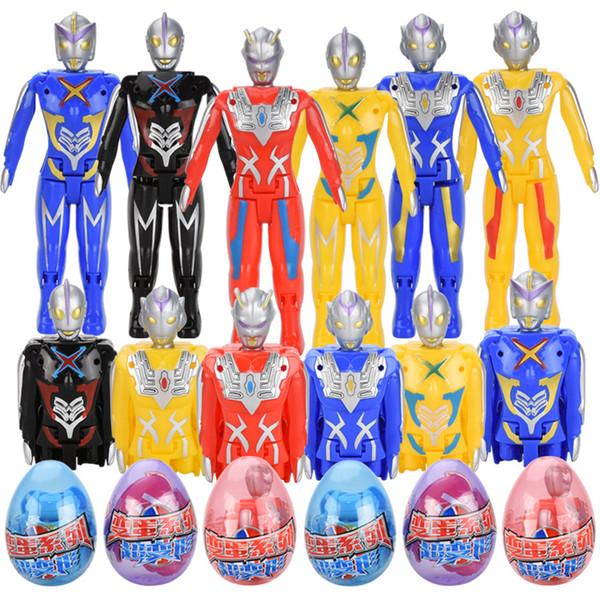 Multi-stile bambini giocattolo Superman Ultraman deformazione uovo Puzzle giocattoli Action Figures bambini Trasformazione robot di compleanno regalo di Natale