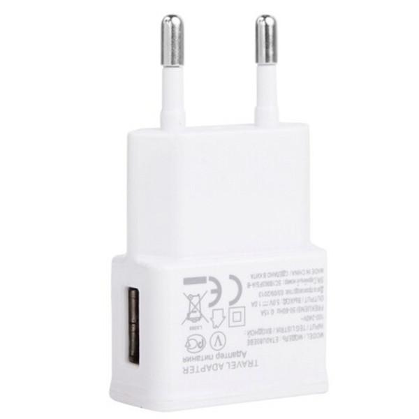 Plugue da ue branco 5 v usb carregador de parede + micro usb cabo para samsung s3 i9300 nota 3 note4 xiaomi telefone telefones android