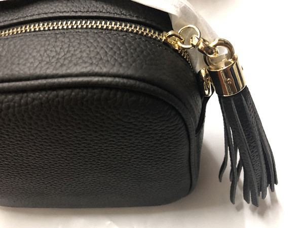 Designer-Handtaschen SOHO DISCO Bag Echtes Leder Quaste Reißverschluss Umhängetaschen Frauen Umhängetasche Designer-Handtasche Komm mit Box