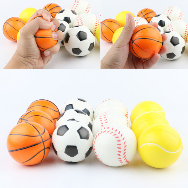 best selling hot Baseball dog toys Sponge Balls 6.3cm Soft PU Foam Ball Decompression toys Novelty Sport Toyspet dog accessories T2G5033