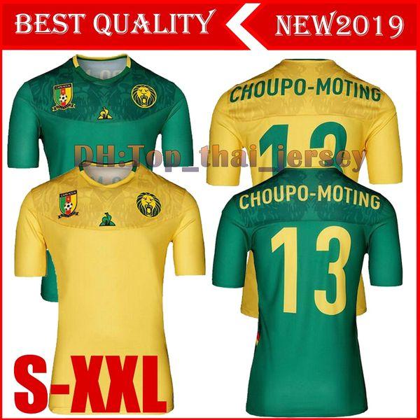 2019 2020 Kamerun Fußball Trikot 19/20 Kamerun Heim Auswärts Blau # 9 Eto'o # 10 ABOUBAKAR Fußball Trikot Nationalmannschaft Fußballuniform