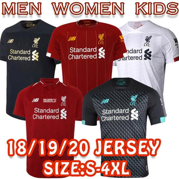 new styles 92bc3 dc57c 2019 2018/19/20 Liverpool S 4XL 100% Best Top Thailand Quality Soccer  Jersey Salah Firmino Virgil Mane Home Away Third Men Women Kid POLO Shirt  From ...