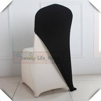 Cheap price products 20pcs Wedding spandex/Black color elastic chair cap hood /Hotel chair decorations Free shipping