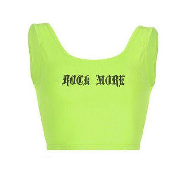 NEW Women Ladies Clubwear Summer Crop Top Fluorescent Color Print Party Vest Top