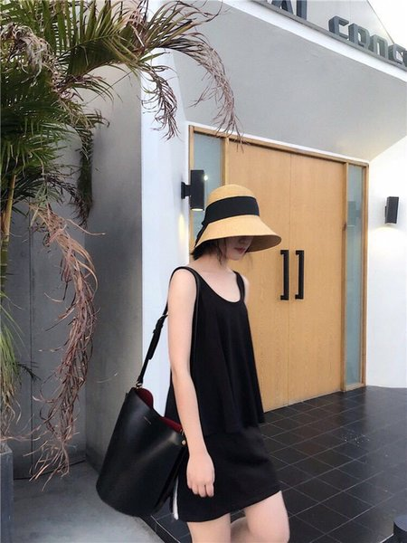 2019 new best selling casual Sun Hao with the paragraph foldable French bow retro grass hat female summer vacation beach big visor