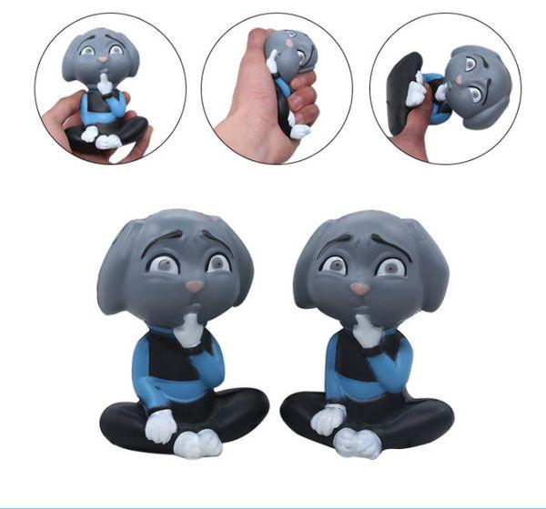 Squishy yeni ürün simülasyon Gri köpek yavaş ribaund oyuncak simülasyon karakter modeli simülasyon oyuncak