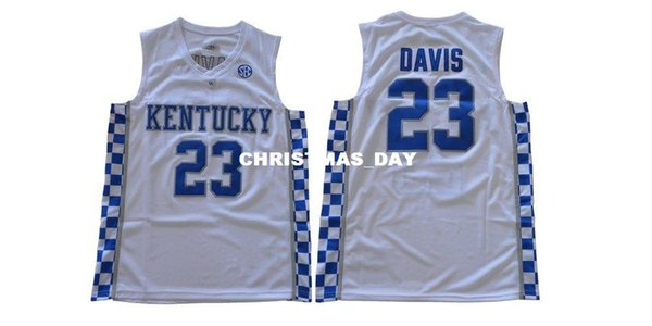 Cheap custom Kentucky Wildcats Anthony Davis 23 College Basketball Jersey - White Stitched Customize any number name MEN WOMEN YOUTH XS-5XL