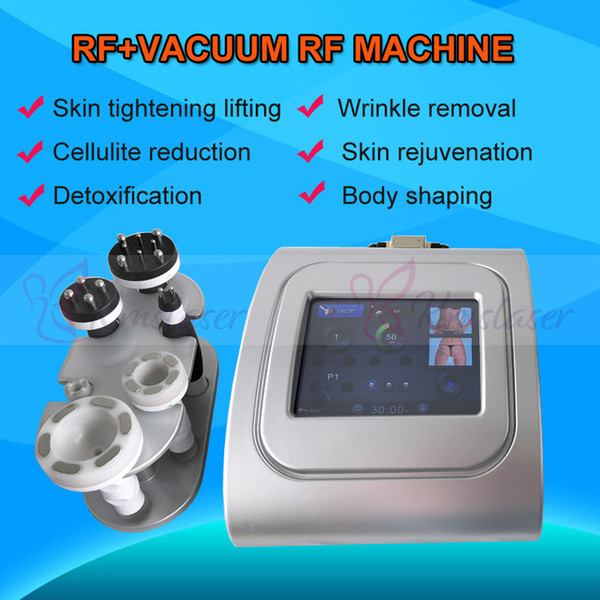 Red blue green photo therapy Vacuum Suction + RF Body Shaping Machine RF Weight Loss lymphatic drainage body countouring beauty machine