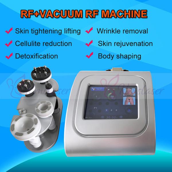 Kırmızı mavi yeşil fotoğraf tedavisi Vakum Emme + RF Vücut Şekillendirme Makinesi RF Kilo Kaybı lenfatik drenaj vücut countouring güzellik makinesi