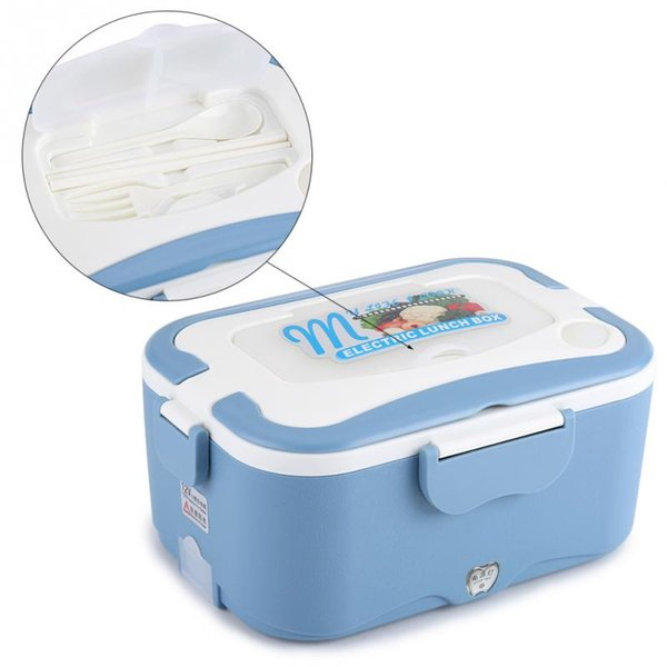 Hot sale 1.5L Portable Electric Heating Lunch Box Food-Grade Food Container Food Warmer free shipping