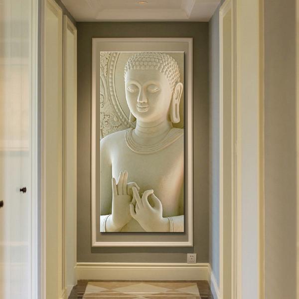 Acheter 1 Panneau Résumé Bouddha Toile Peinture à L Huile Mur Photo Pour Le Salon Cuadros Décoration Moderne Zen Impression Sans Cadre De 32 76 Du
