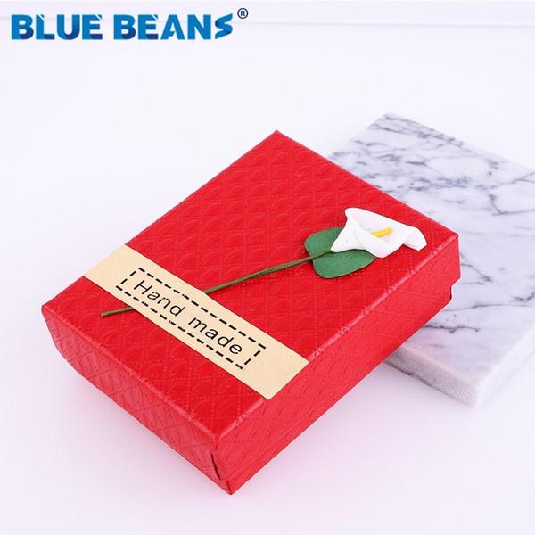 Vendendo nuovo quadrato scatola di gioielli organizzatore Anello di fidanzamento per orecchini Collana braccialetto Display scatola regalo titolare Nero rosso bianco
