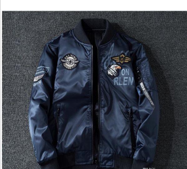05fe2acec7b Pilot Jacket Coat Thin Or Thick Bomber Ma1 Men Bomber Jackets NASA ...