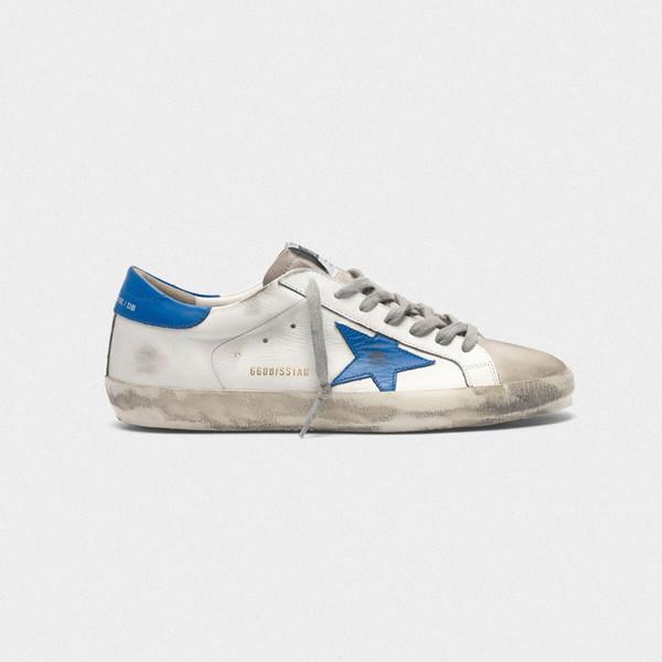 2019 İtalya Markaları Altın Gose GDB Eski Stil Tasarımcı Moda Sneakers Hakiki Deri Bayan Casual Ayakkabı Eğitmen SUPERSTAR SLIDE