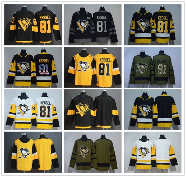 pretty nice 98005 1f11b 2019 Pittsburgh Penguins 81 Phil Kessel Stitched Hockey Jersey 2019 Stadium  Series Black White All Star Blank Gold Alternate White Road From ...