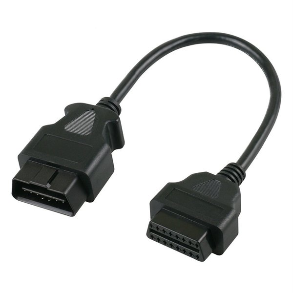 OBD2 16Pin Extension Cable Connector 30cm Male To 16Pin Female extend OBD II adapter for Launch IDIAG Easydiag Mdiag ELM327