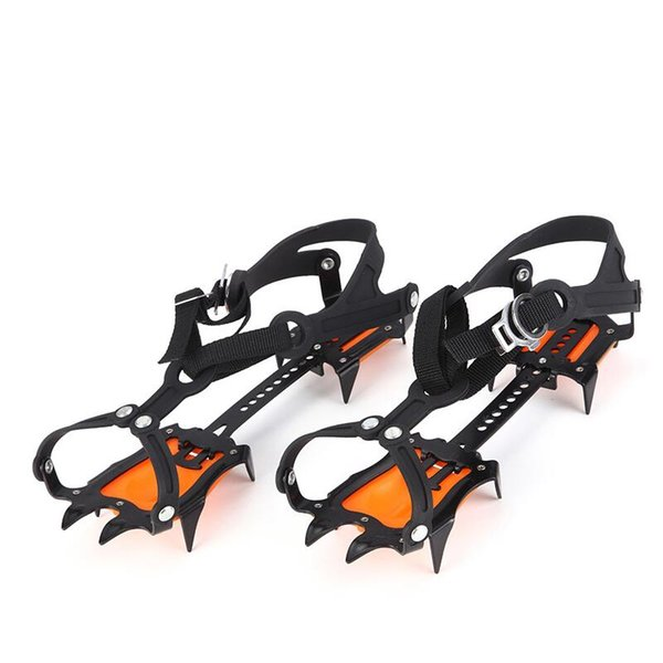 Hiking Teeth Claws Crampons Outdoor Anti-Slip 10-Tooth Climbing Shoes Covers Ice Gripper Outdoor Ski Ice Snow Free Shipping