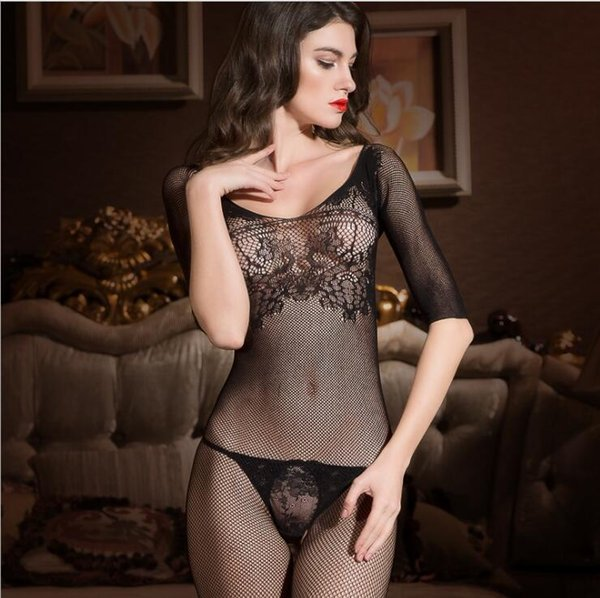 Wholesale- Liweike 2017 Lace Sexy Passion Lingerie Backless Halter Babydoll G-string Dress Sexy Nightgown Girl Sleepwear Night Dress