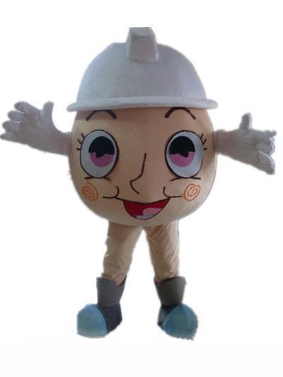2019 fábrica de la venta del descuento de un traje de la mascota de huevo con un sombrero blanco para adulto para llevar a la venta