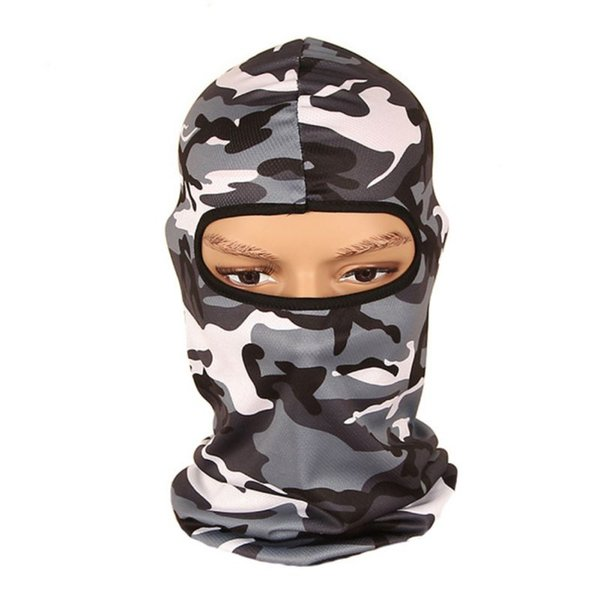2018 New Tactical Balaclava Hunting Face Mask Camo Printing Camouflage CS Breathable Head Hood Jungle Mask