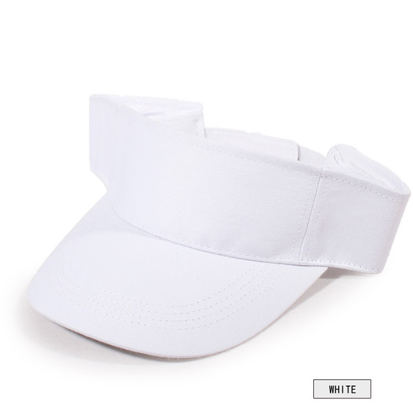 Plain Visor Sun Cap Sport Hat Adjustable Solid Color Breathable For Summer Tennis Beach WHShopping