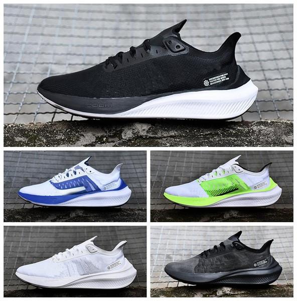 Compre 2019 AIR ZOOM GRAVITY Hombre Zapatos Air ZOOM 37 Deporte Exterior Zapatillas De Deporte Grandes Logo Grande Zapato Para Caminar Tamaño 40 45 A