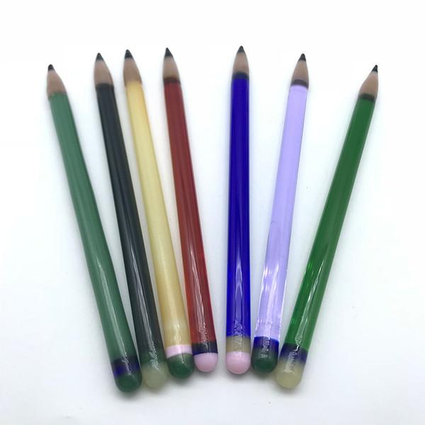 New Pencil Glass Dabber Buntes Dabber-Tool Berauschendes Glas Dabber Rauchen Zubehör Werkzeug für Quarz Banger Nägel Dab Rigs Glas Wasser Bongs