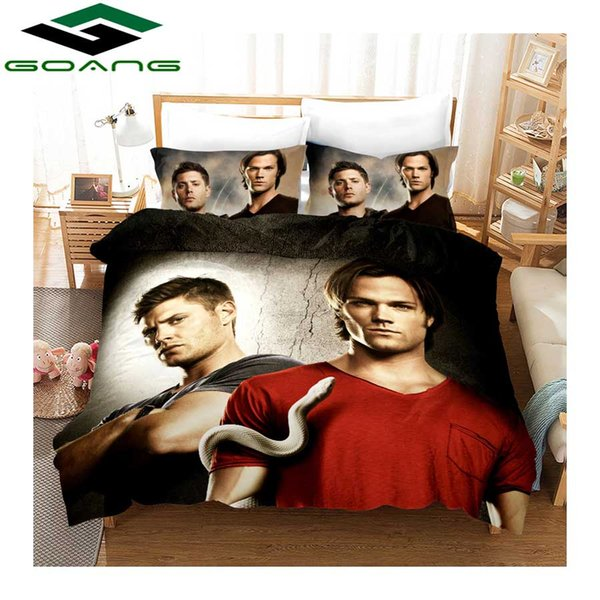 """GOANG bedding set 3d digital printing """"Power of Evilly"""" duvet cover and pillowcase luxury bedding sets home textiles"""