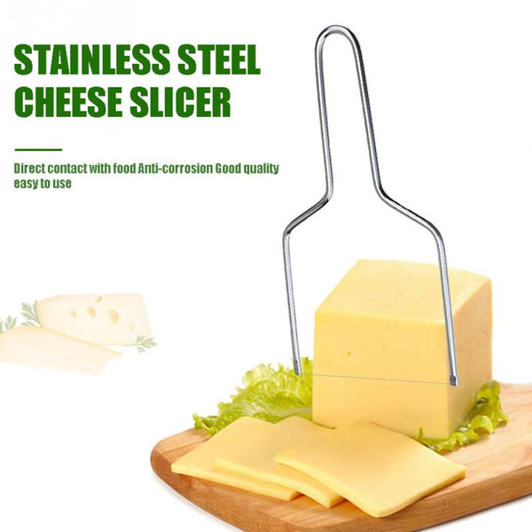 top popular Stainless steel Eco-friendly Cheese Slicer Butter Cutting Board Butter Cutter Knife Board Kitchen Kitchen Tools 2019