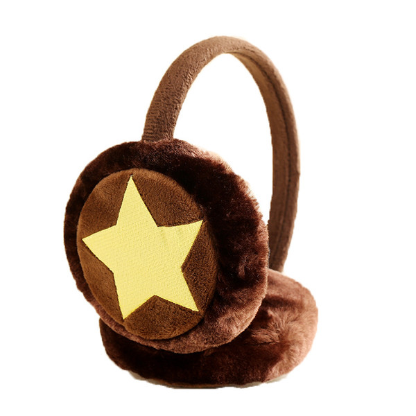 Ear Muffs Children's Cold-proof Warm Earmuffs Cute Color Five-pointed Star Plush Ear Warmer Kids Winter Accessories for Kids