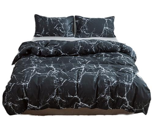 Geometric Teens Bedding Comforter Cover Sets Twin Size Cotton Bedding Set with 2PC Pillow Cover Modern Duvet Cover for Men Kids