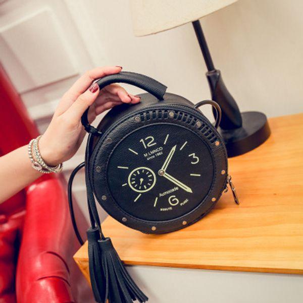 2019 New Women's Bag Clock and Watch Single Shoulder Bag Skew Bag
