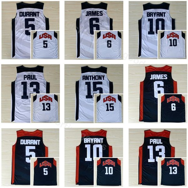 2012 US Dream Team Ten 11 Kevin Love Jersey Basketball 15 Carmelo Anthony 8 Deron Williams 14 Anthony Davis 7 Russell Westbrook America