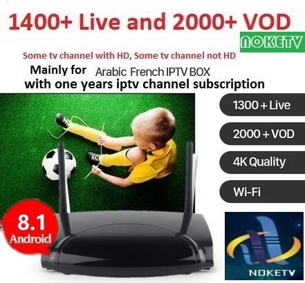 Android TV Box R2 With 1 Year NOKETV French Belgium Dutch