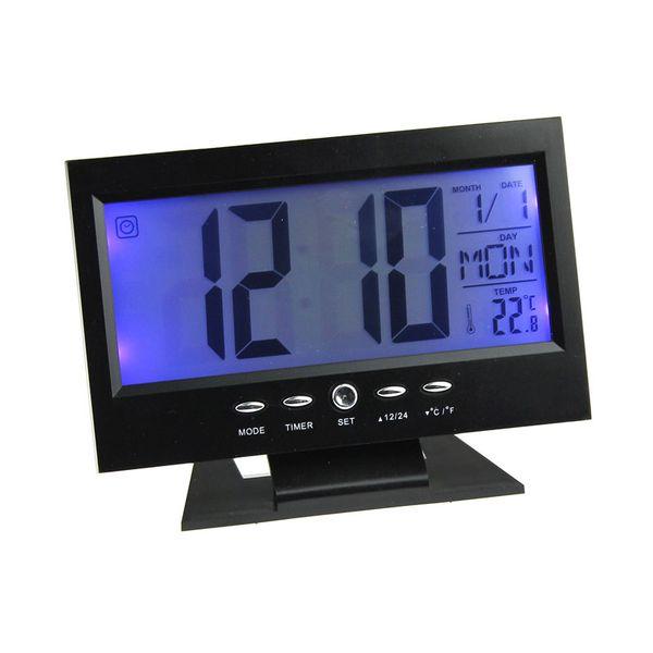 Светодиодный цифровой Креативный Будильник Light Control Время подсветки + Календарь BK Часы с проекцией Саата