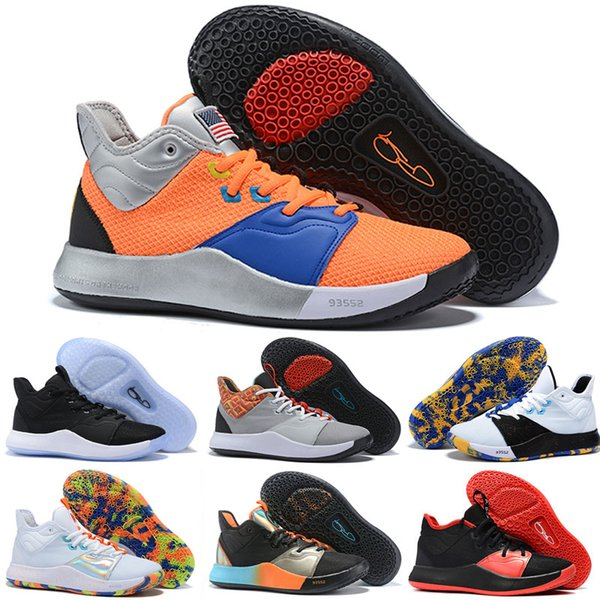 Buy PG 3 Apollo Missions shoes for sales hot Paul George 3 white kids basketball shoes